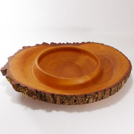 Coupe à fruits avec deux bords et écorce