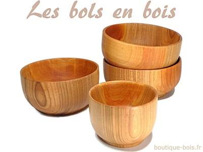 Bols en bois fabriqués en France