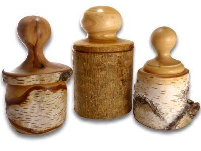 Boites en bois rondes