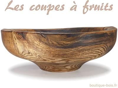 Corbeilles à fruits et grandes coupes décoratives en bois
