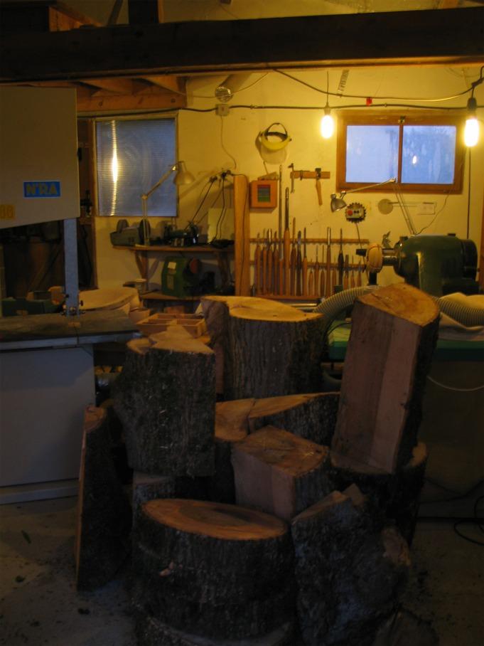 Débits de bois pour tournage